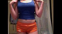 Amazing stripping and teasing teen