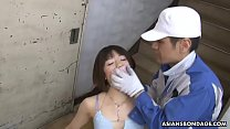 Shiroi Natsumi could just moan from pleasure while getting gangbanged