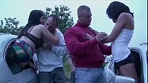 A girl is going to a dogging public gang bang location orgy with a strangers thumbnail
