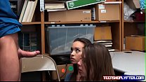 Sweet teen pair Charity Crawford and Zoey Lane taste justice and dick preview image