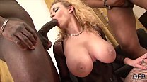 Hot Interracial rough anal fuck with blowjob and cum swallowing milf that loves to get pussy fucked by big black cocks