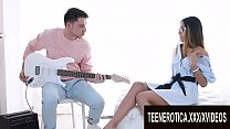 Guitar Lesson Turns Into a Passionate Ass Fuck for Exotic Teen Roxy Lips