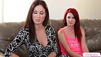 Stepmom lick stepdaughter during therapy