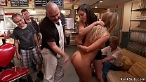 Blonde anal fucked in public places