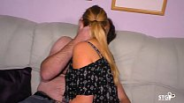 SEXTAPE GERMANY - Blonde German newbie gets fucked hard in her first sex tape thumbnail