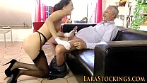 Stockings brit rides cock Preview