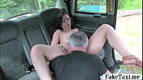 Nasty passenger nailed by horny driver in the backseat