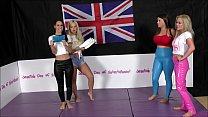 Tag-Team Bra and Panties Match (Strip-Wrestling Match) w, Loser gets strapped in a nappy (diaper)!! ~ 'The Queen of Supreme' Jess West & Charlotte Anderson vs Jessica Morgan & Tammy Sloane