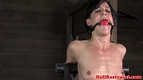 Chained sub punished with analplay preview image