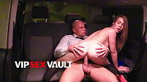 LETSDOEIT - Alexis Crystal & Leny Evil - College Girl Rides Uber Driver After She Finishes Her Exams