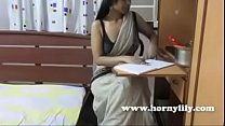 Horny Lily Sexy Indian Bhabhi Tutor Dirty Talking and Seducing Her Students thumbnail