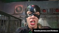 Bat Girl Kendra James Binds & Dildos CatGirl Nikki Brooks!'s Thumb