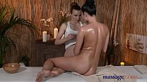 Massage Rooms Big boobs teen has pussy filled with lesbian fingers preview image