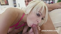 Lola Shine gets the daylights fucked out of her- 4on1 with Triple Anal thumbnail