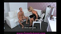 FemaleAgent Nervous stud caught in agents web