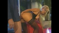 Stunning blonde mamajama Jill Kelly in black lingerie is not against to taste hard rod of security agent watching their house