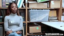 Ebony Teen Thief Sarah Banks Caught Stealing Stripped & Fucked