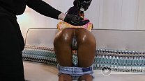 Skinny 85 lbs Black Slut Gets Her Throat Fucked By Monster BBC Cum Gushes Out of Her Twitter @BreakHerInX