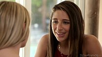 Kenna James and Abella Danger Teen Lesbian Couple's Thumb