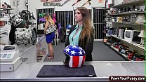 Office babe takes a blowjob for cash Thumbnail