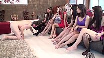 Sadistic Glamour Girls order slaves to lick their feet