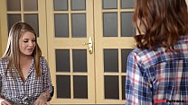Horny college roomates Alessandra & Macy 1st time Threesome preview image