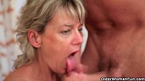 Blow your load on mom's face Image