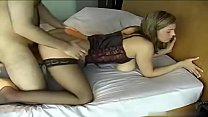 Babe in stockings hot blowjob and sex