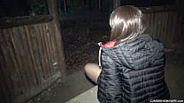 Dogging wife gangbanged and creampied at the picnic area