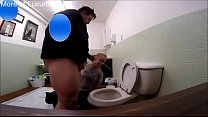 Fat guy pissing