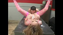In refectory Carson Carmichael gets her pussy drilled after smudge tits with hard sauce