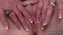 Adulterous british mature lady sonia shows her ...