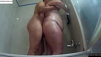 Fucking her ass at the shower. RAF372