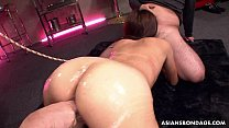 Asian bitch has a threesome that is bdsm infected [노예 플레이 slave abuse]