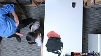 13587 Asian teen shoplifter caught but seduces the security guard preview
