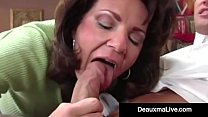 Busty Cougar Deauxma Fucks The Tax Man In Her H...