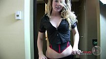 Fingering skinny Canadian country girl wearing lingerie talks dirty to get BF to