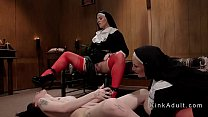 Screenshot Two Dominant  Nuns Anal Fucks Brunette