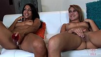 GIRLS GONE WILD - Fantastic Young Duo Eva and Kaley Masturbating Together