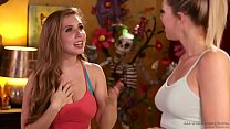 Lesbian adventure at massage salon - Zoey Monroe and Lena Paul