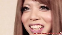 Redhead ladyboy fingered in her tight ass thumbnail
