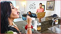 BANGBROS - Kitty Caprice Gets Her Latin Big Ass Fucked While Her BF Is Home
