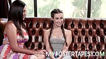 Foster Daughter Cassidy Klein is excited to move in with her new Foster Mothers, Jelena Jensen, and Sarah Vandella. - FULL SCENE on http://MyFosterTapes.com