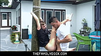 Tied Up Twink Nephew Johnny Hunter Fucked By Hot Uncle Jax Thirio Outdoors