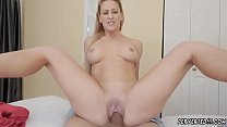 Blonde milf trimmed and cock worship Cherie Dev...