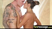 Teen massage gives stud happy ending 7 - 9Club.Top