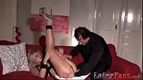 Blonde vixen ass fucked into submission before cumshot