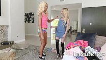 Petite Blondes get fucked hard: Public violations