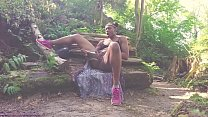 Squirting Outdoors Under Drone Voyeur - Carla Cain Ebony Sensual Porn Actress and Camgirl