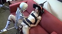 Who is she? Witch fucking skeleton pornhub video